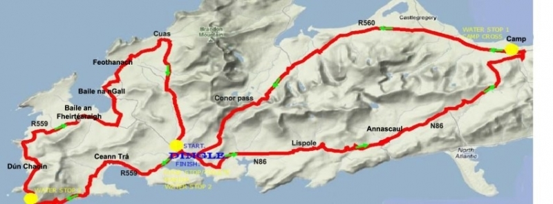Dingle Peninsula Sportiff 2017 route